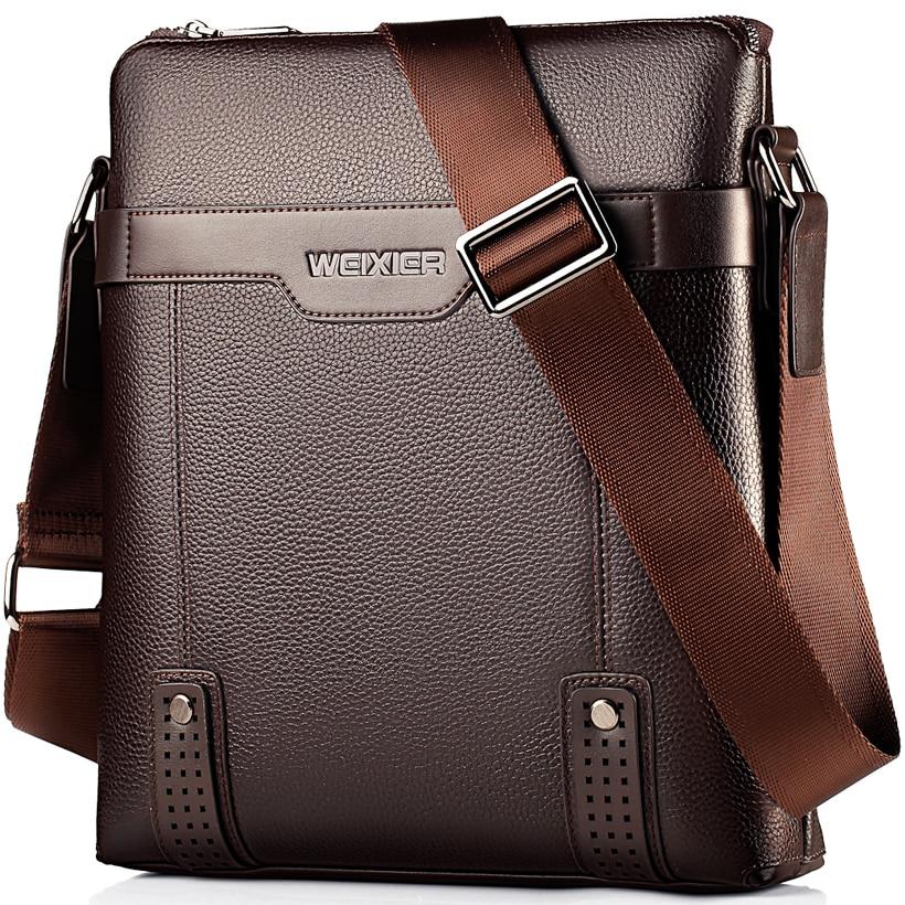 Handbag Men Messenger Bag Men Leather Bag Business Shoulder Crossbody Bags For Male Black Brown Sac Homme Small Briefcase