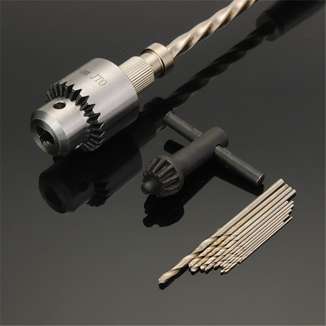 DANIU New Semi-automatic Mini Hand Drill Chuck Clamping 0.3-4.0mm Reamer Pin Hole Hand Drill Hand Manual Drill