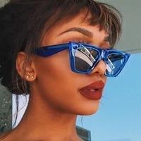 New Fashion Women Sunglasses Cat Eyes Colorful Brand Designer Luxury Popular Sun glasses Big Full Frame Eyewear Women Glasses