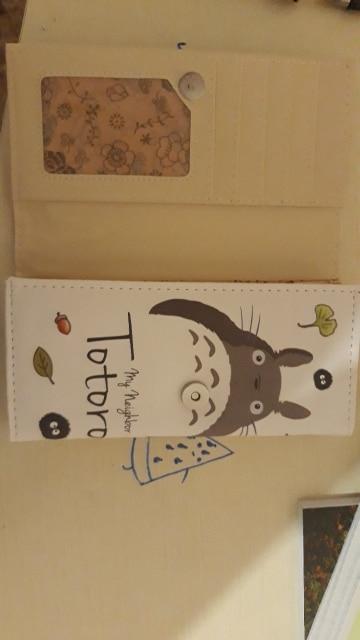 Lovely Totoro PU Leather Long Women Wallet Girls Cartoon Clutch Purse Money Coin Card Holders Wallets Carteira Feminina photo review