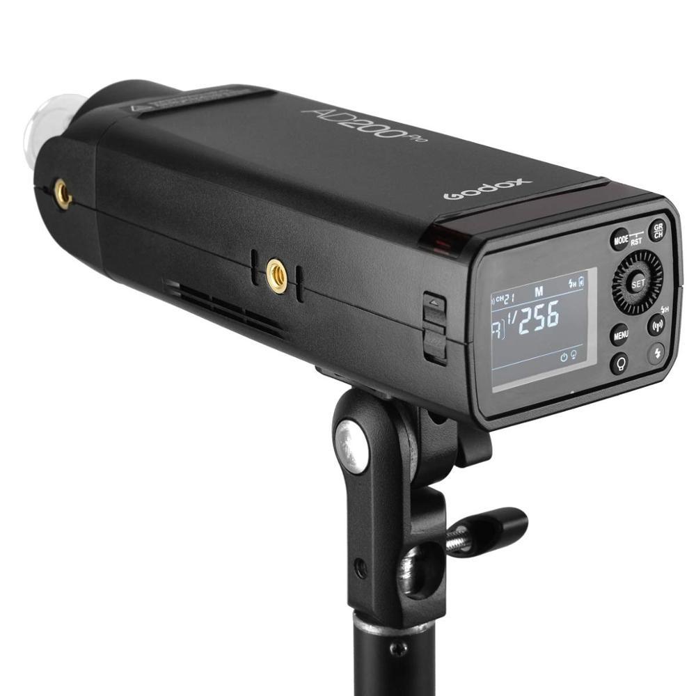 Godox AD200 Pro AD200Pro 200Ws 2.4G Flash stroboscope 2900mAh batterie ampoule nue Speedlite Fresnel tête pour DSLR caméra Speedlight
