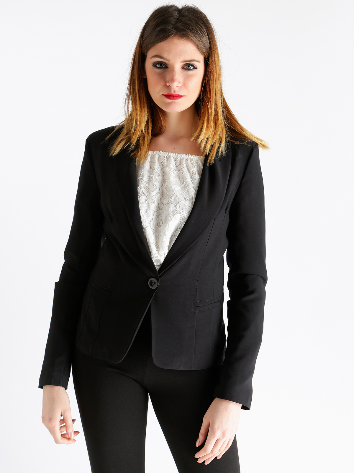 Black Blazer With Button