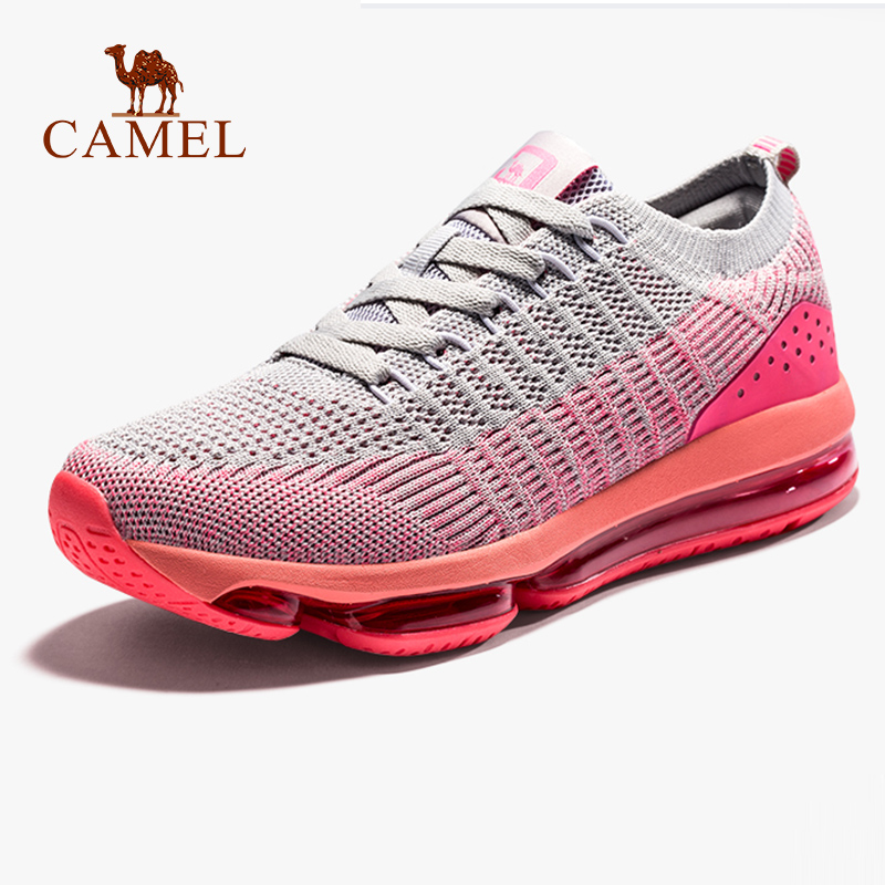 CAMEL Women Air Running Shoes Fashion Air Cushion Max Shock Absorption Non slip Breathable Sneakers Outdoor