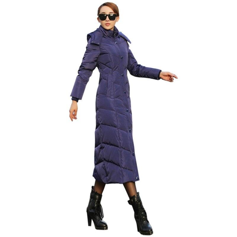 Hiver Lady Coton Veste Mode Élégante Longue section Veste de Femmes Simple Boutonné À Capuchon chaud Parker Manteau