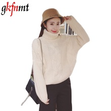 Coarse Needle Turtleneck Female Winter Lazy Retro Thickened Thick Line Knitted Cashmere Sweater Twist Sweaters