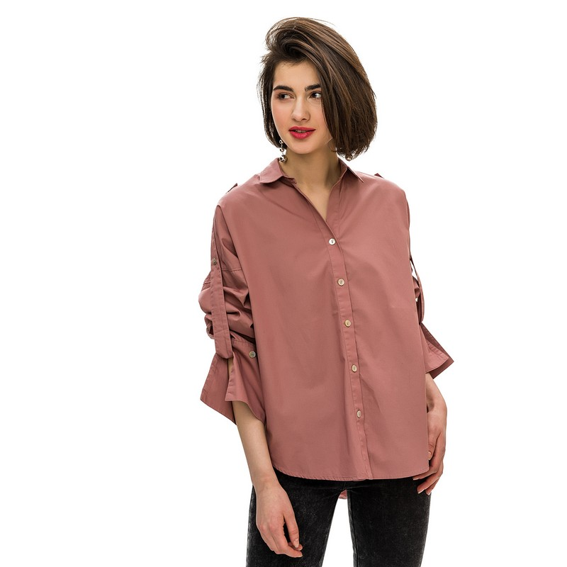 Blouses & Shirts blouse befree for female cotton shirt long sleeve women clothes apparel  blusas 1811400356-97 TmallFS flare sleeve self tie cut out blouse