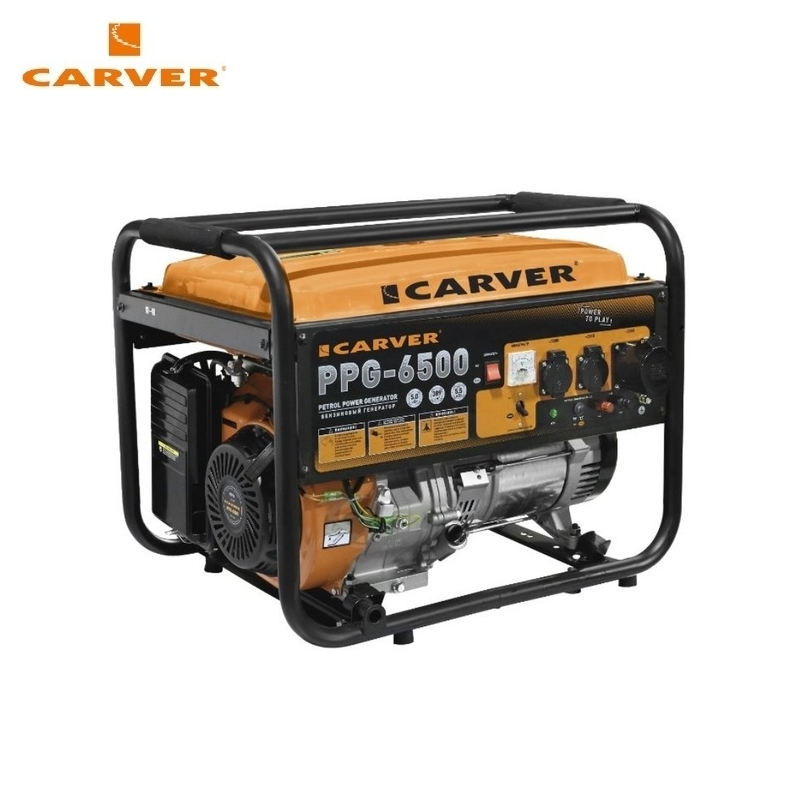 Petrol power generator CARVER PPG-6500 Power home appliances Backup source during power outages Benzine power stations стоимость