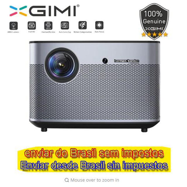 """xgimi h2 1080P Full HD DLP projector 1350 ANSI Lumens Support 4K Android tv Wifi Bluetooth Home Theater 300"""" Beamer"""