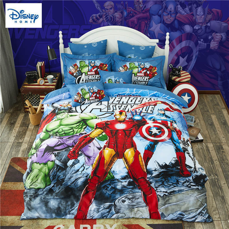 Marvel Avengers Bedding Set For Kids Comforter Duvet Covers Twin Size Bedroom  Decor Queen Bed Sheets Cotton Bedspread 3 5 Pieces