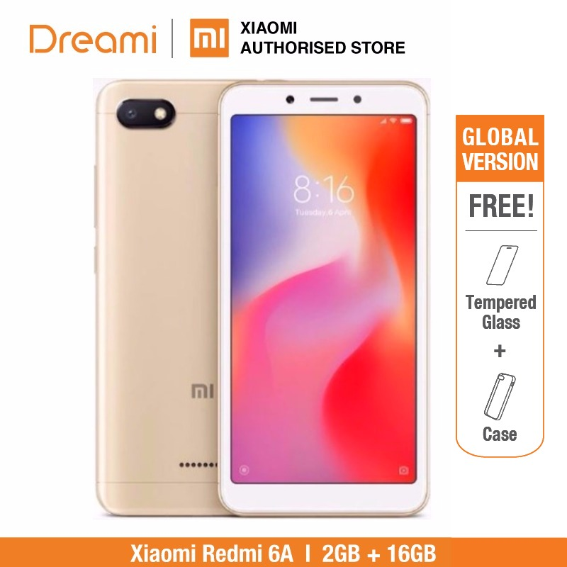 Global Versão Xiaomi Redmi 6A 2 16 GB ROM GB RAM (Novos e Selados) Redmi6a 16 GB