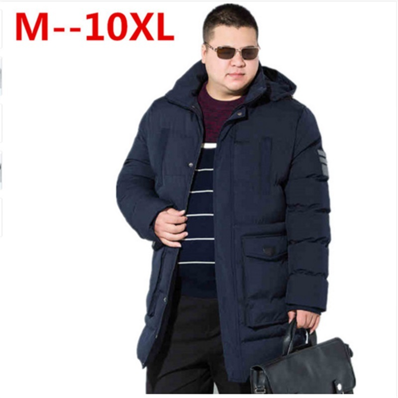 10XL 8XL 6XL winter warm Jackets for men hooded coats casual mens thick coat male slim casual cotton padded down outerwear hot цена
