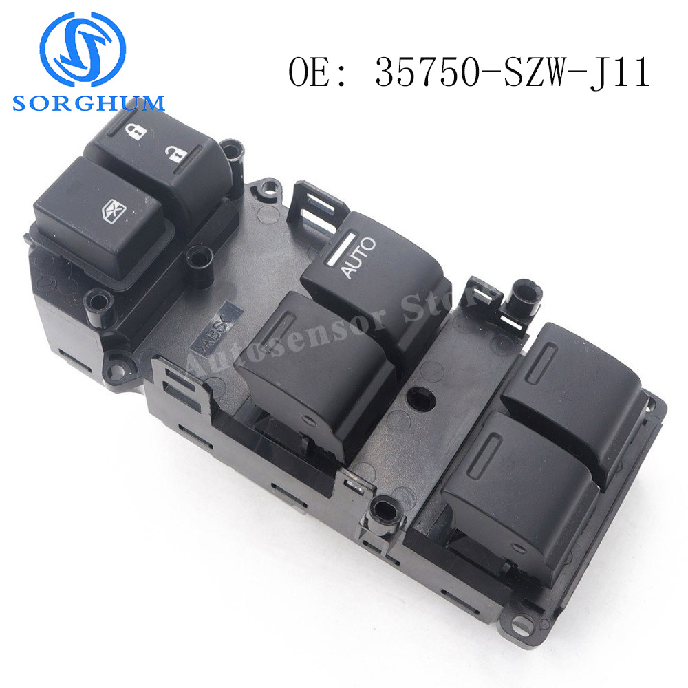 цена на 35750-SZW-J11 New Brand Power Master Window Switch For Honda Accord