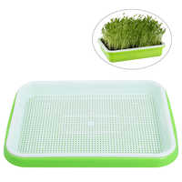 Flowerpot and Planting Box Seed Sprouter Tray Soil-Free Food Grade PP Healthy Wheatgrass Grower Gardening Supplies Nursery Basin