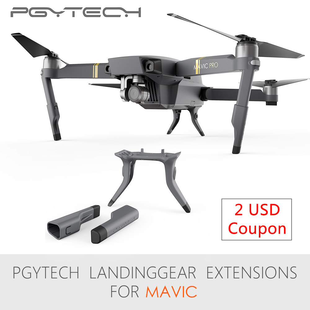PGYTECH Extended Landing Gear Leg Support Protector Extension Replacement Fit For Mavic Pro drone accessoriesPGYTECH Extended Landing Gear Leg Support Protector Extension Replacement Fit For Mavic Pro drone accessories