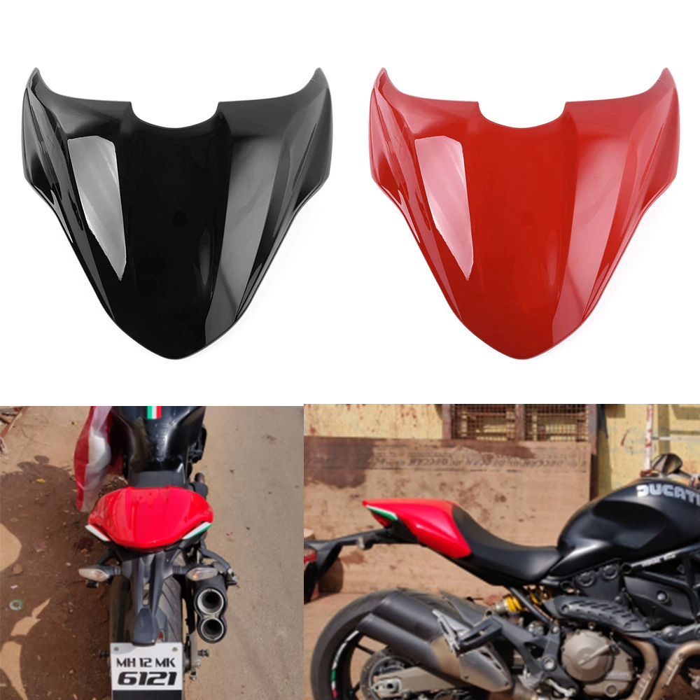 Motorcycle ABS Plastic Rear Pillion Passenger Hard Seat Cowl Cover Section Fairing For 2014-2017 Ducati Monster 821 2015 216