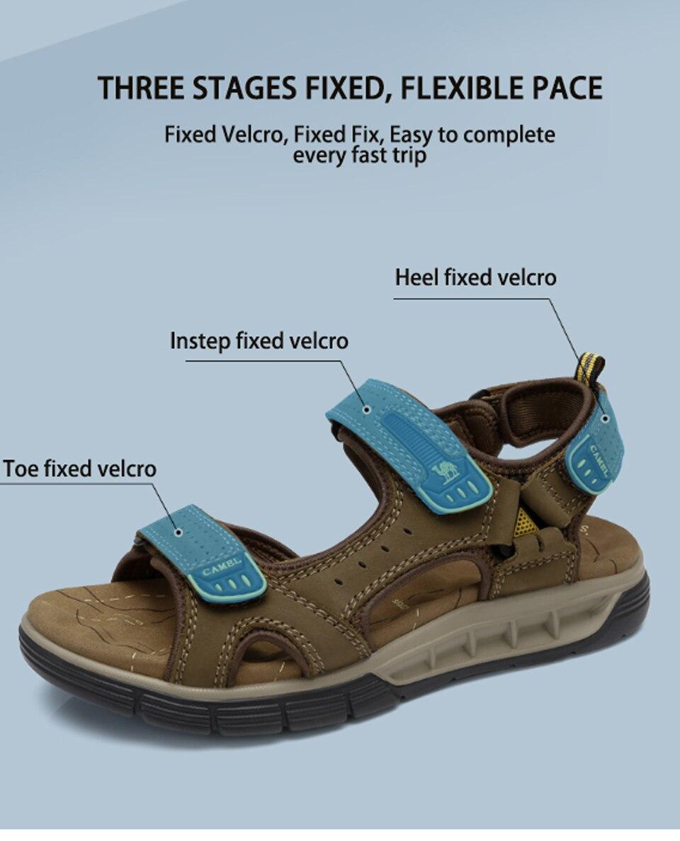 Dämpfung Mode Weiche Outdoor Sandalen Von Männer Flexible Camel Sandale Strand Schuhe Echtes Leder Travel Großhandel Wohnungen Leichte CoWrxdeB