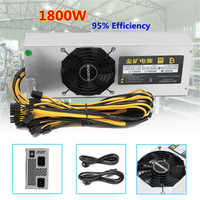95 Efficiency 1800W Mining Power Supply For Eth Rig Ethereum Bitcoin Miner S7 S9 110 240V