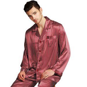 Image 4 - メンズシルクサテンパジャマパジャマ PJS パジャマセット部屋着 U.S.M 、 L 、 XL 、 XXL 、 3XL 、 4XL