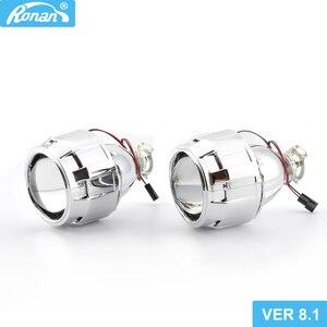 Image 1 - RONAN objectif de projecteur en bi xénon Ver8.1, mise à niveau 2.5, phare phare pour voiture H4 H7, à bricolage, utilisation dune ampoule H1