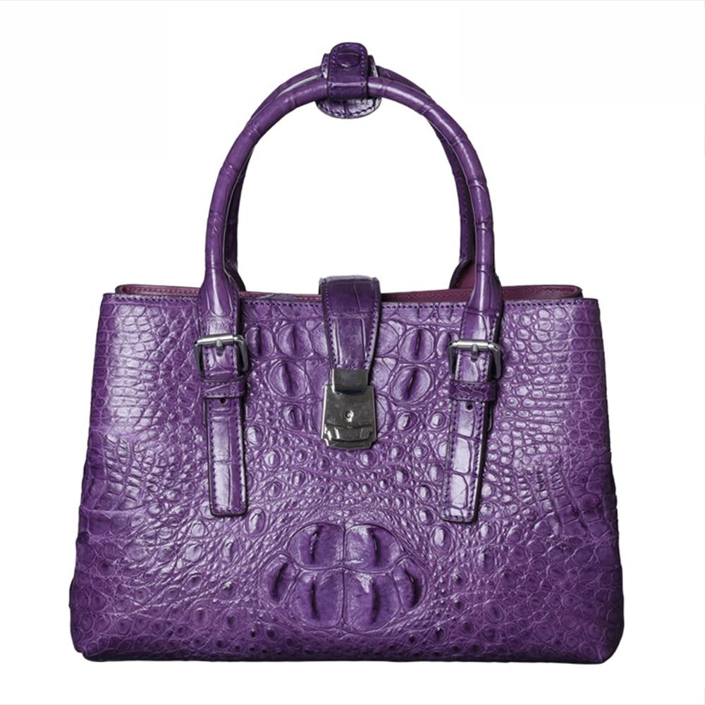 все цены на Crocodile leather Women Bags Genuine Leather Bags fashion Women Handbags Quality Shoulder Bags ladies' genuine leather handbag онлайн