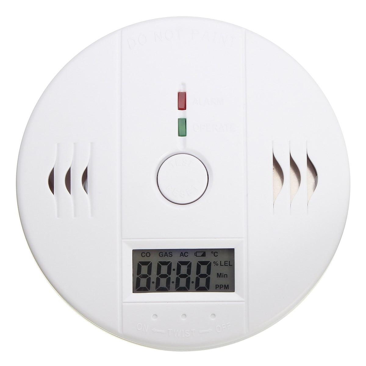 NEW LCD CO Carbon Monoxide Smoke Alarm Detector Poisoning Gas Warning Sensor Tester High Sensitive smoke alarm gas detector audio sound high fidelity sensitive monitor microphone