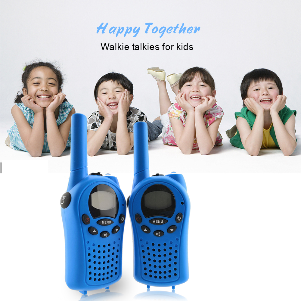 Image 2 - 2pcs Mini Walkie Talkie for Kids Radio FRS/GMPS 8/22CH VOX Flashlight Lcd display UHF 400 470 MHZ two way radios Intercom Gifts-in Walkie Talkie from Cellphones & Telecommunications