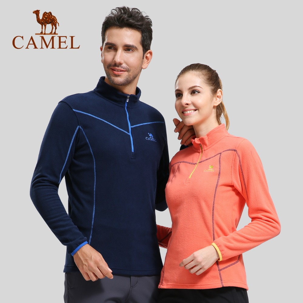 CAMEL Outdoor Fleece Hiking Jacket Women Men Autumn Winter Windbreaker Softshell Thick Warm Jacket Mountaineering Camping Coat