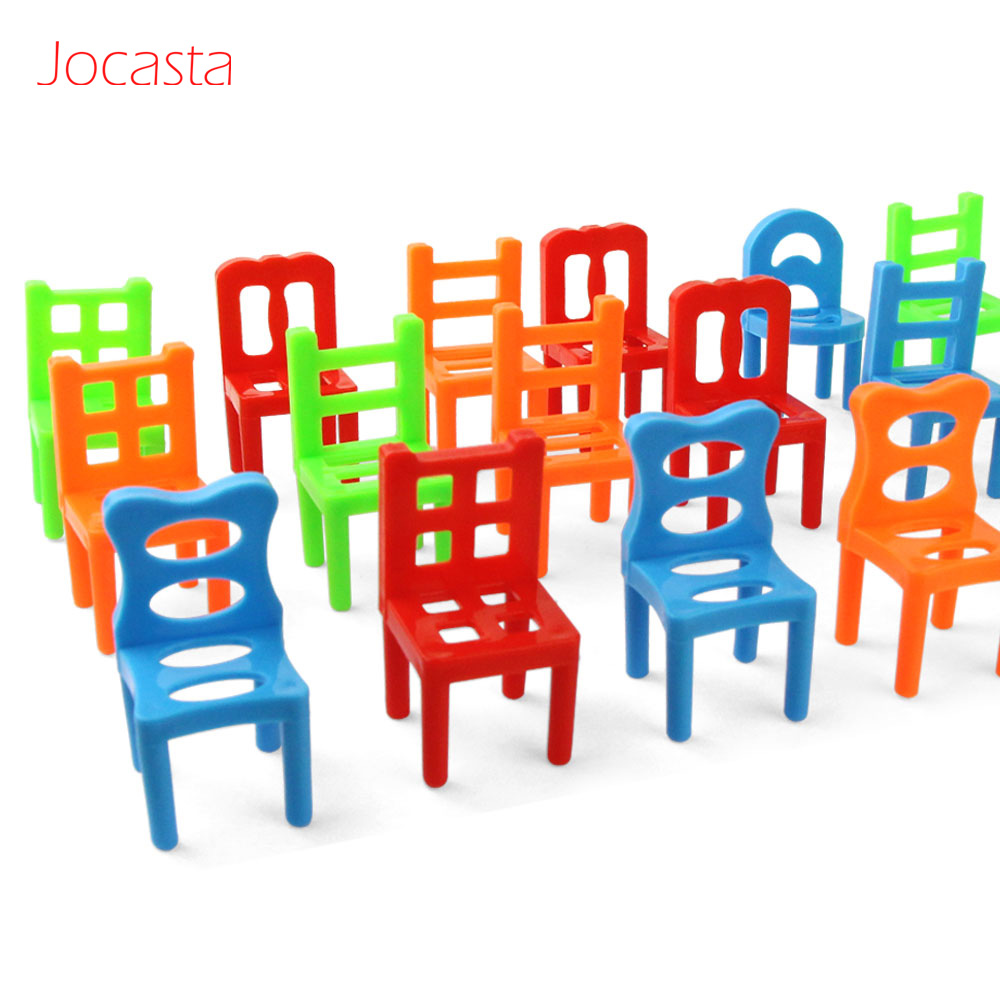 Chair Stacking Board Game 36 Mini-Chairs Balance Game for Kids