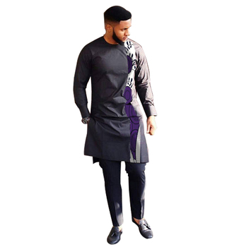 Fashion African Print Clothing Men Tops+Trousers Set Shirts And Pants Sets Festive Costume African Men Clothes Customize 5