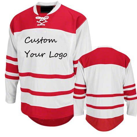 MeiLunNa Customize Any Hockey Team Goalie cut Jersey Sewn On Any Name And Number Color Size