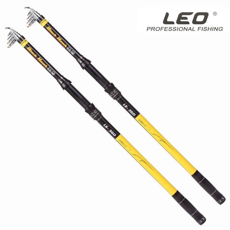 2018 LEO High Duty 5 SectionsTelescopic 46T Carbon Pole Aluminium Reel Seat Sea Rod 2.1M-3.6M Carp Fishing Pesca Peche