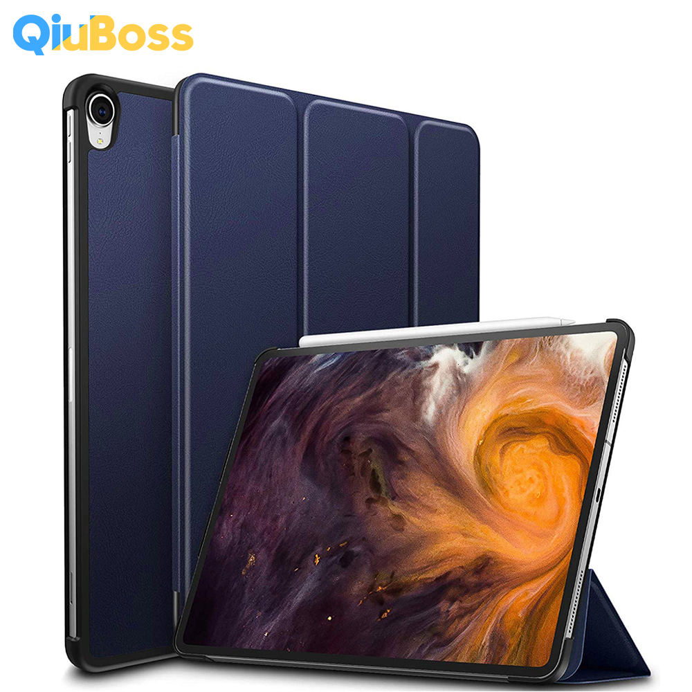 Ultra Slim Smart Case For New iPad Pro 12.9 2019 Release Shockproof PU Leather Magnetic Trifold Cover For iPad Pro 12.9 Case