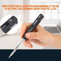 Professional 1 Set Mini Portable 65W Programmable TS100 Electric Soldering Iron Digital LCD Easy dismount design space saving