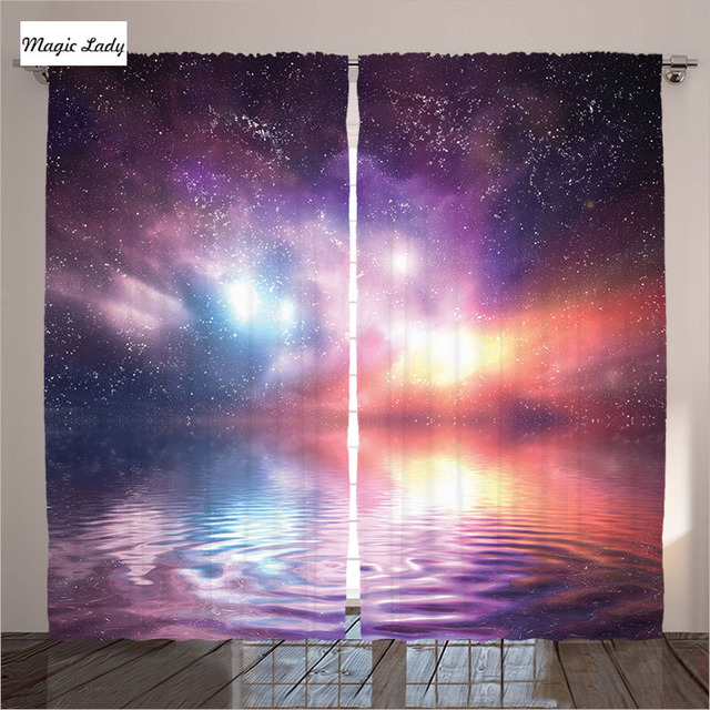 Curtains Purple Water Art Fog Space Night Cosmos Celestial Ocean Sea ...