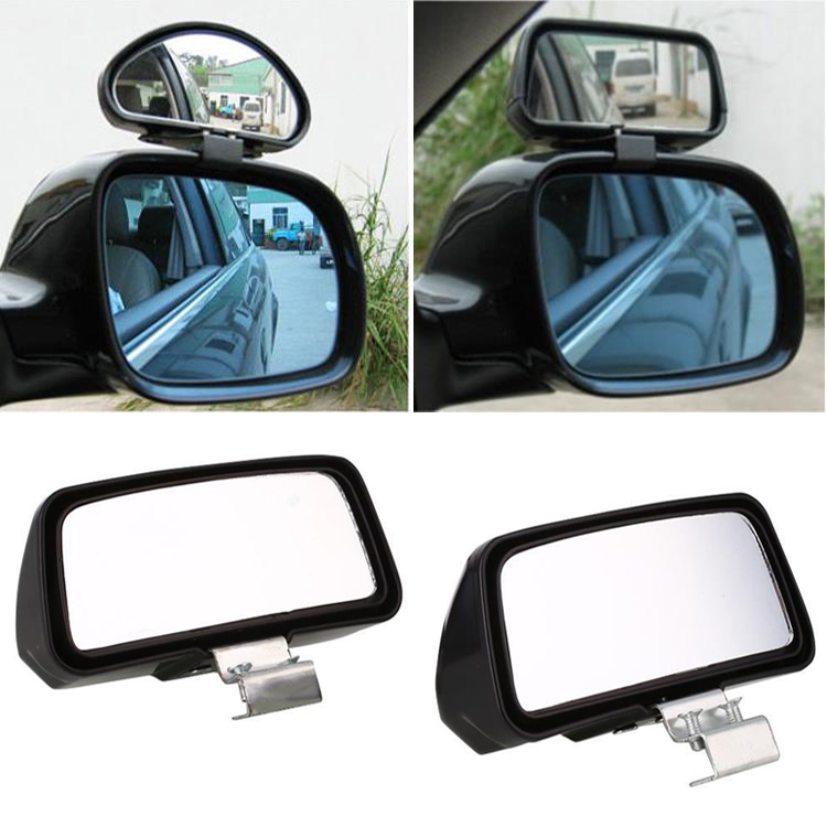 2Pcs Auto Car Truck Blind Spot Mirror Wide Angle Rear Side View Adjustable