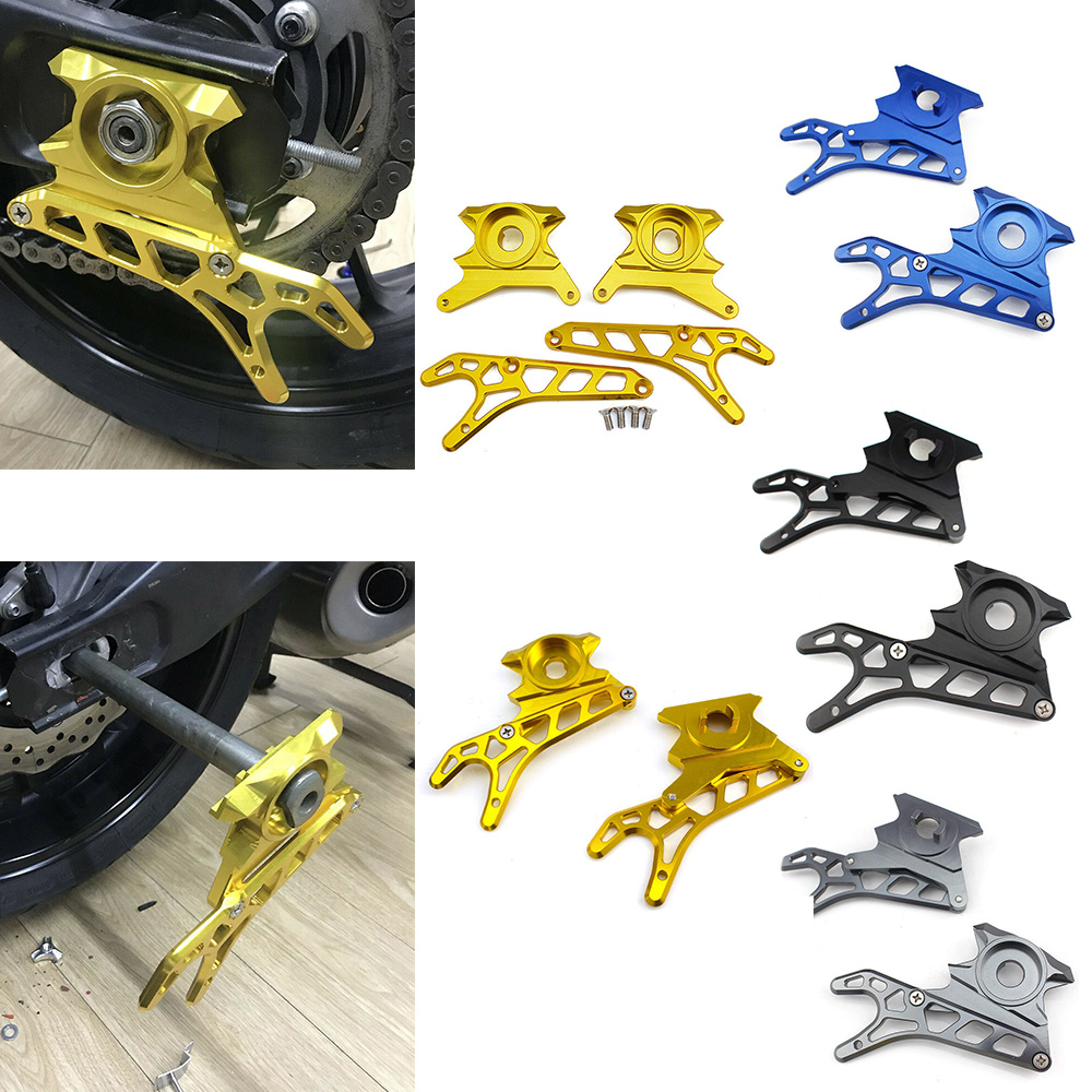Motorcycle CNC Aluminum Left Right Rear Wheel Axle Stand Pick Up Hook Set For 2014 2015