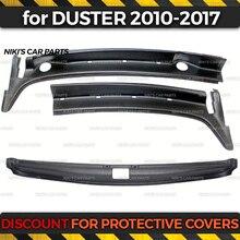 Защитный набор 2 шт. для Renault / Dacia Duster 2010 2017 jabot + Защитная Накладка на порог заднего багажника защитная накладка для стайлинга