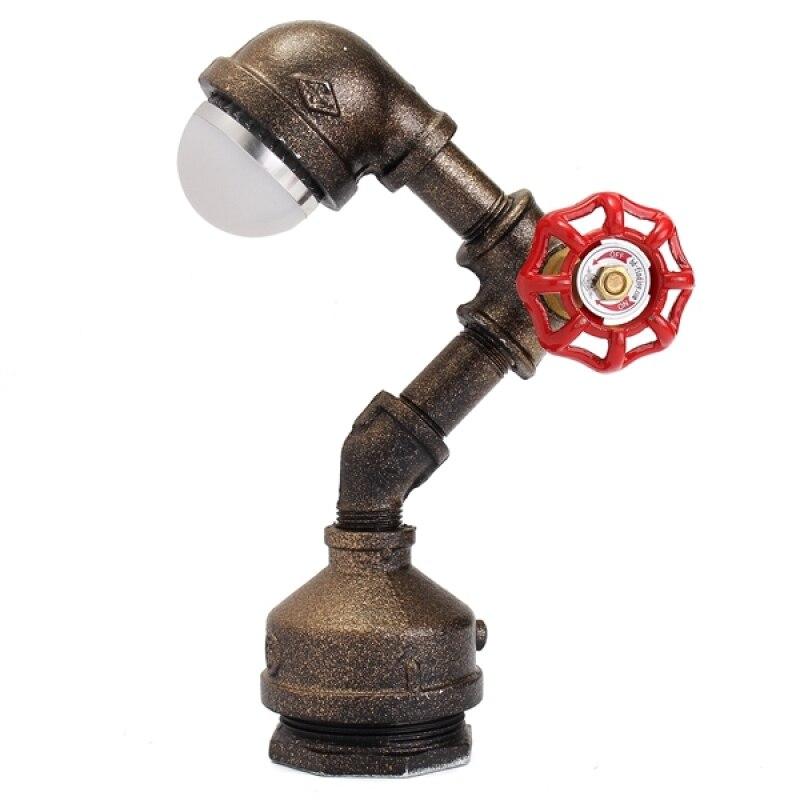 Винтаж промышленного ретро гладить трубы стол настольные лампы свет Эдисон лампочка 220 В