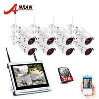 Sistema de cámara de vigilancia inalámbrica ANRAN 8CH 1080 P HD IP visión nocturna al aire libre sistema de cámara de seguridad CCTV