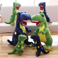Dinosaur Toy Dolls Children`s Plush toys Office&Home Pillows PP Cotton Material Novel Design Bright Colors Great Elasticity