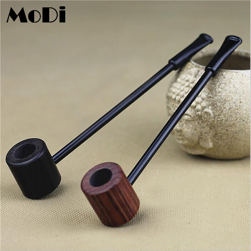 High Grade Imported Ebony Wood Solid Wood Popeye Pipe Smoking Set Wooden Tobacco Pipes For Smoking Weed Lighter Free Shipping