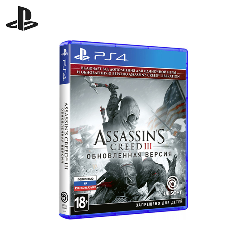 Game Assassin's Creed III Upgraded version for PS4 21 tv game t 860a kes 860a ps4 860 3 yx l043