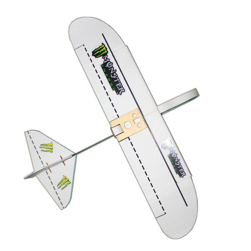 Monster 800mm Wingspan PP Material Laser Cut DIY RC Airplane Flying Wing Glider KIT Assembly Gifts For Kids Handmake image