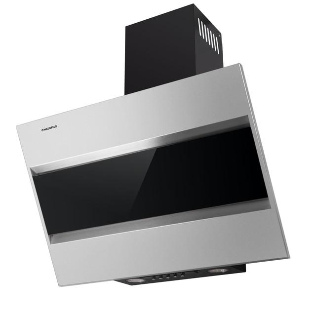 Кухонная вытяжка MAUNFELD BRIDGE 50 нержавеющая сталь\черное стекло