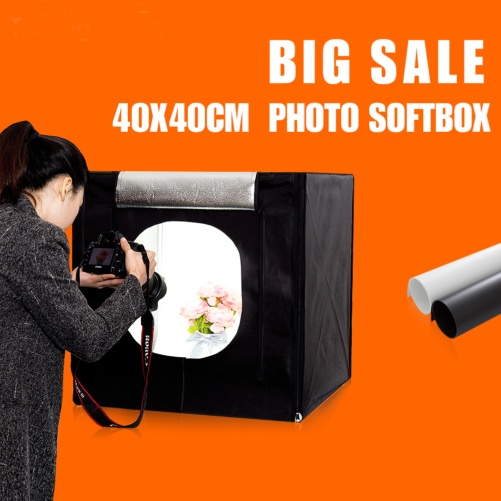 40X40X40CM Mini Portable Photo Studio Softbox Tabletop Shooting Light box Photography Photo Box Soft box Stuido free shipping sanoto brand portable mini photo studio photography light box photo box mk40 soft box for 220 110v