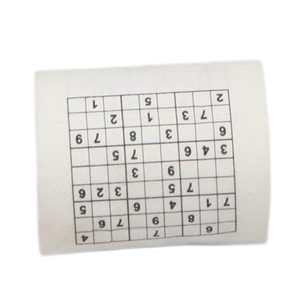 New Arrive 2 Layer Wood Pulp Material Creative Funny Game Sudoku Roll Toilet Paper Roll Game Facial Tissue Novelty Gift