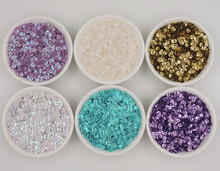 4MM Solid Colors Concave Round Sequins Paillette For Crafts Scrapbook And Sewing DIY Handmade Project