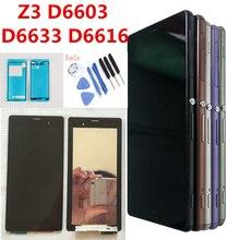 Оригинал 5,2 »для SONY Xperia Z3 ЖК-дисплей Дисплей Сенсорный экран D6603 D6683 D6653 Замена для SONY Xperia Z3 ЖК-дисплей двойной D6633 D6616