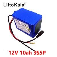 LiitoKala New Protection Large capacity 12V 10Ah 18650 lithium Rechargeable battery pack 12v 10000 mAh capacity+12V 1A Charger