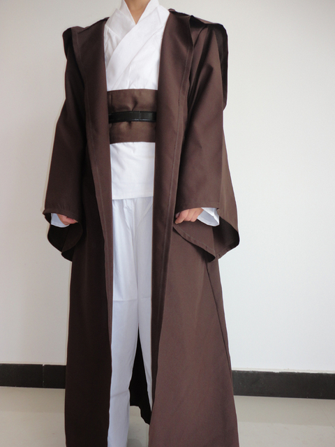 Star Wars Robe Adult Hooded Robe Jedi Kinight Cosplay Black/Brown Cloak Cape Anakin Skywalker Obi- Wan 6 size 4